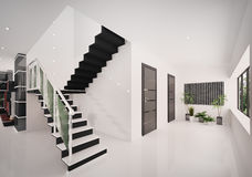 Interior of modern entrance hall 3d render Royalty Free Stock Image