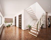 Interior of modern entrance hall 3d render Stock Image