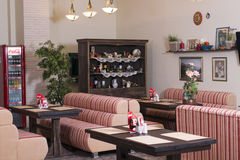 Interior of modern european cafe Royalty Free Stock Images