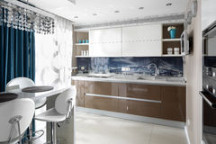 Interior of modern european kitchen Stock Photo