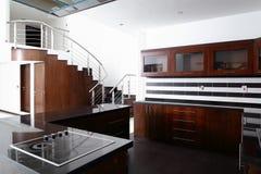 Interior of modern european kitchen Royalty Free Stock Photos
