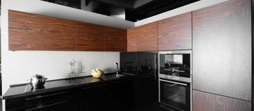 Interior of modern european kitchen Stock Images