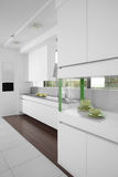 Interior of modern european kitchen Royalty Free Stock Photography