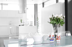 Interior of modern european kitchen Royalty Free Stock Image