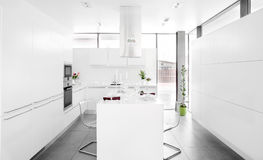 Interior of modern european kitchen Royalty Free Stock Photo