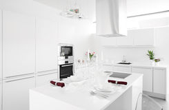 Interior of modern european kitchen Royalty Free Stock Images