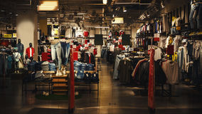 Interior of a Modern Fashion Store Stock Photo