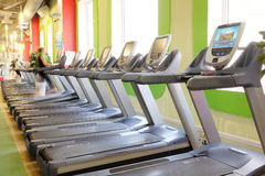 Interior of a modern fitness hall in Moscow Stock Photos
