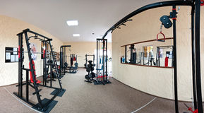 Interior of modern gym Stock Photos