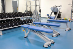 Interior of a modern gym Royalty Free Stock Image