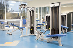 Interior of a modern gym Royalty Free Stock Images