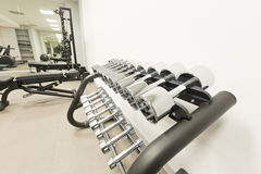 Interior of a modern gym Royalty Free Stock Photography