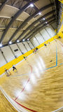 Interior of a modern  gymnasium with young people Stock Images