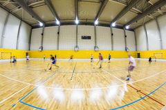 Interior of a modern  gymnasium with young people Stock Photos