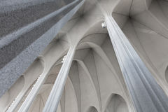 Interior of modern Hallgrimskirkja church - Iceland Royalty Free Stock Photos