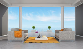 Interior of a modern holiday villa Stock Image