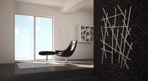 Interior modern home design Royalty Free Stock Photos