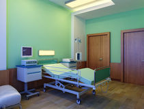 Interior of modern hospital at night Royalty Free Stock Photos