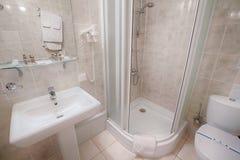 Interior of a modern hotel bathroom. Royalty Free Stock Photos