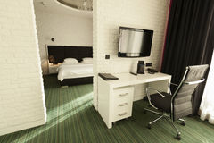 Interior of a modern hotel room Royalty Free Stock Photography