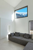 Interior of a modern house. Architecture, interior of a modern house, living room royalty free stock photo
