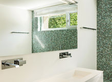 Interior of modern house, bathroom Royalty Free Stock Image