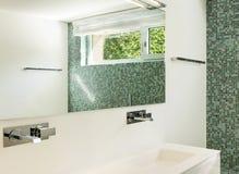 Interior of modern house, bathroom Royalty Free Stock Image