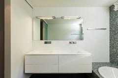 Interior of modern house, bathroom Stock Photo