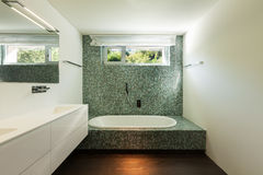 Interior of modern house, bathroom Stock Images
