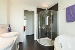 Interior modern house, bathroom Royalty Free Stock Photo