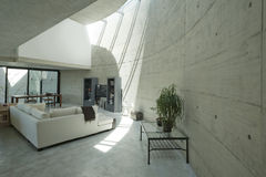 Interior modern house in beton Royalty Free Stock Images