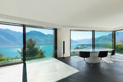 Interior, modern house, dining room Royalty Free Stock Photography