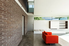 Interior modern house, living room Royalty Free Stock Image