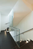 Interior modern house, staircase Royalty Free Stock Images