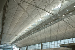 Interior of modern international airport Stock Image