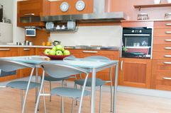Interior of modern kitchen Royalty Free Stock Photos