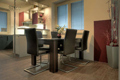 Interior of the modern kitchen Royalty Free Stock Photo