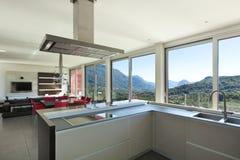 Interior, modern kitchen Stock Photos