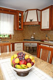 Interior of a modern kitchen. With fruit Royalty Free Stock Image