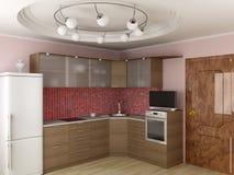 Interior of modern kitchen. Royalty Free Stock Photos