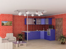 Interior of modern kitchen. Stock Photo