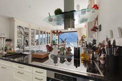 Interior of modern kitchen Stock Images
