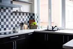 Interior of a modern kitchen Royalty Free Stock Image