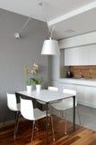 Interior of modern kitchen. Exclusive design Stock Image