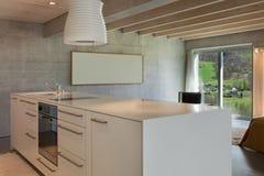 Interior, modern kitchen island Royalty Free Stock Photography