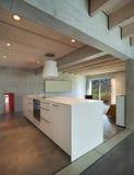 Interior, modern kitchen island Royalty Free Stock Image