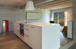 Interior, modern kitchen island Stock Photo