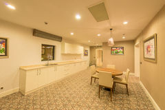 The interior of modern kitchen room Stock Images