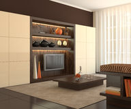 Interior of modern living-room. Stock Image