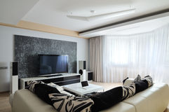 Interior of modern living-room Stock Images